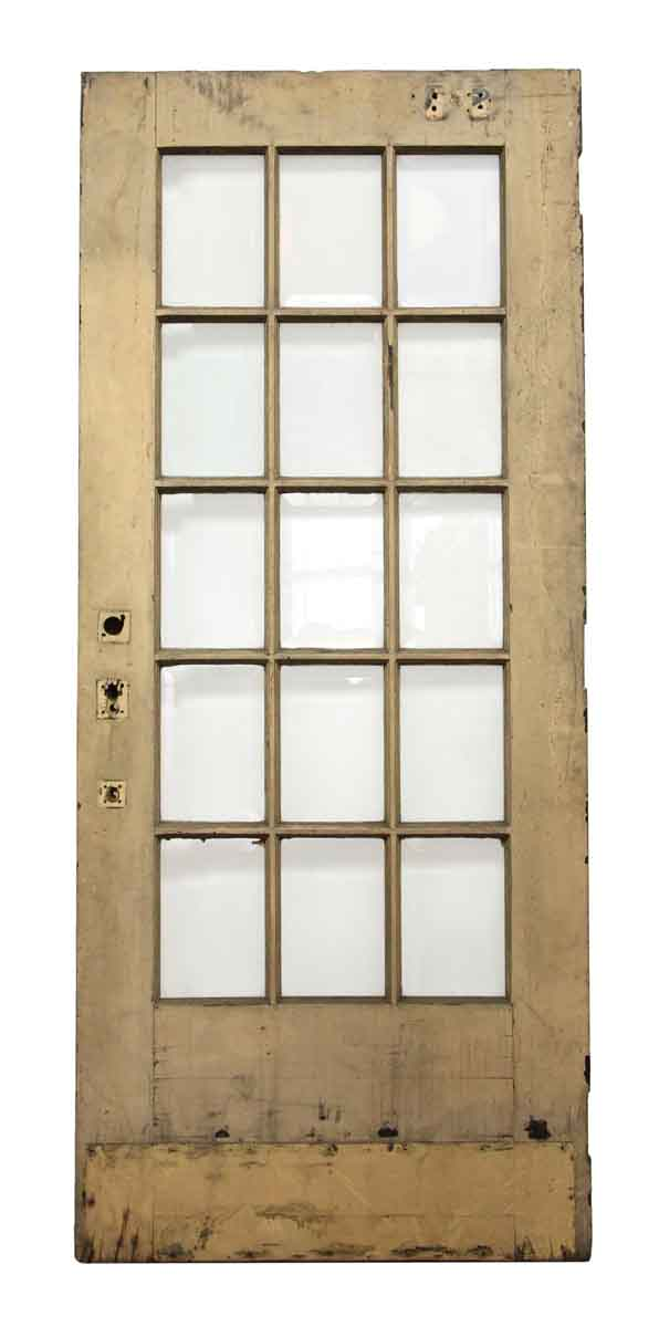 15 beveled glass panel tan door olde good things for 15 panel glass exterior door