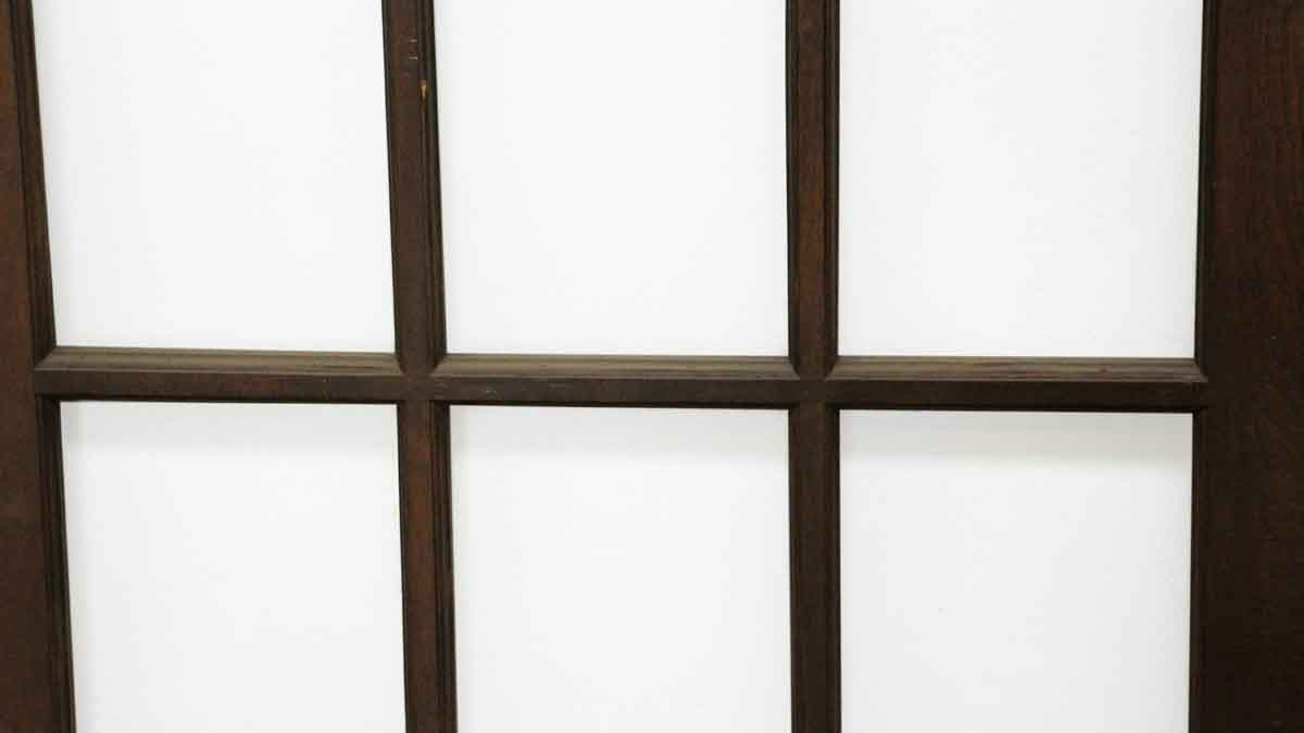 Dark wooden doors with 15 glass panels olde good things for 15 panel wood door