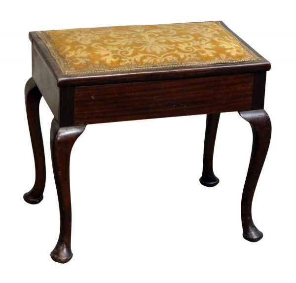 Wooden Storage Footstool with Upholstery