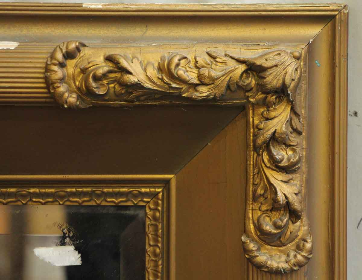 Gold Painted Wood Mirror With Beveled Glass Olde Good Things