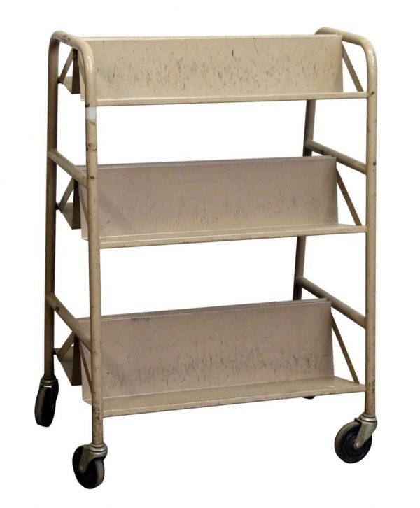 Metal Cart with Six Storage Shelves