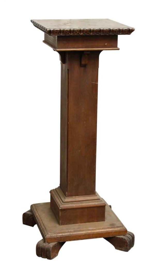 Wooden Podium with Carved Top Edging