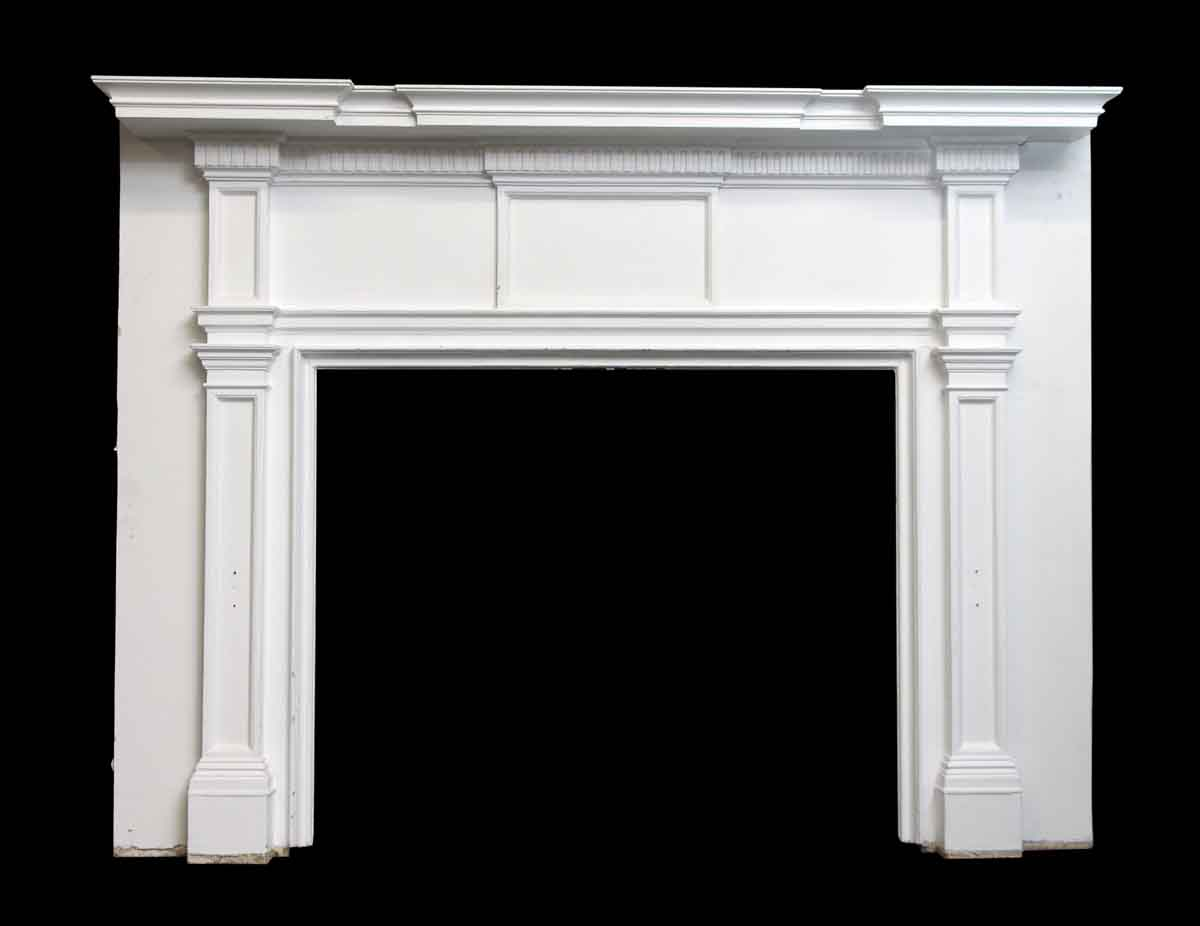 Federal Style White Wood Mantel Olde Good Things