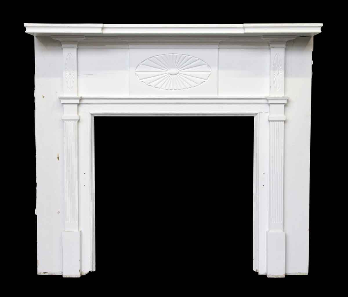 Federal Style White Wooden Mantel Olde Good Things