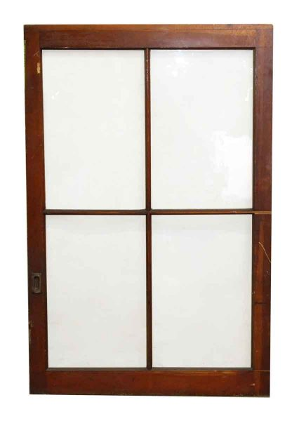 Four Panel Wood Window
