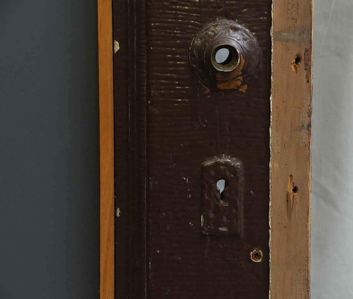 Single Wood Panel ~ Single panel wood door with carved detailing on one side