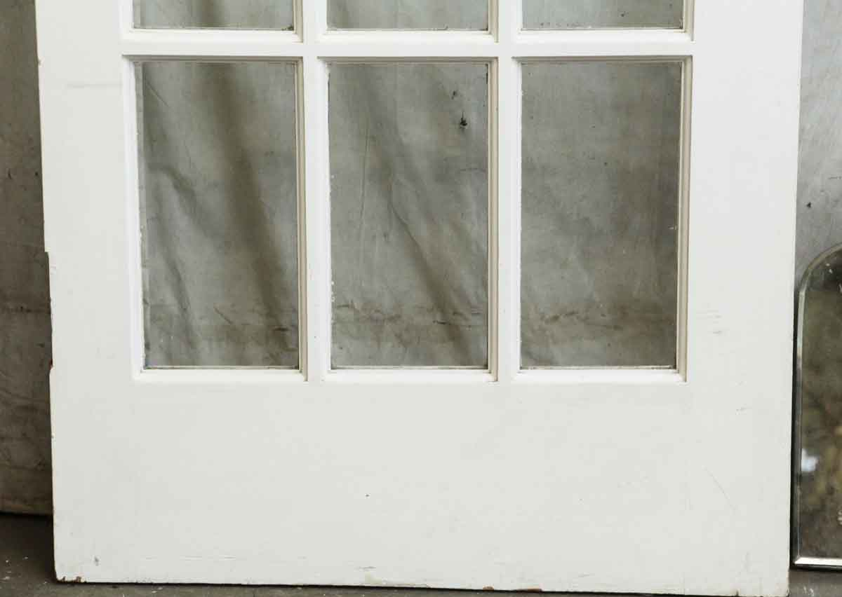 Single 15 glass pane white wood door olde good things for 15 pane glass door