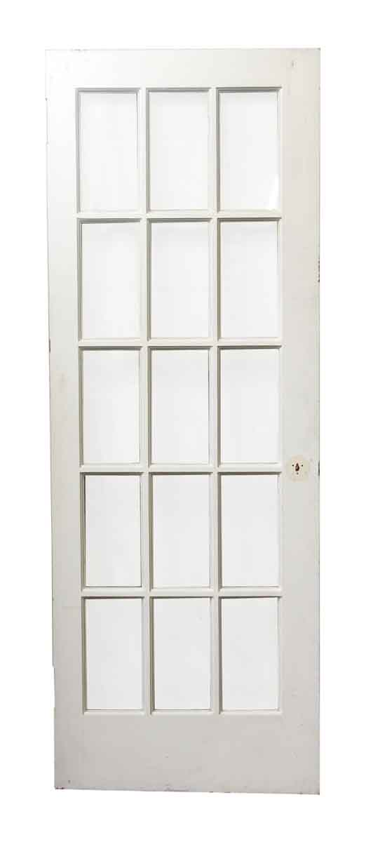Single 15 Glass Pane White Wood Door Olde Good Things