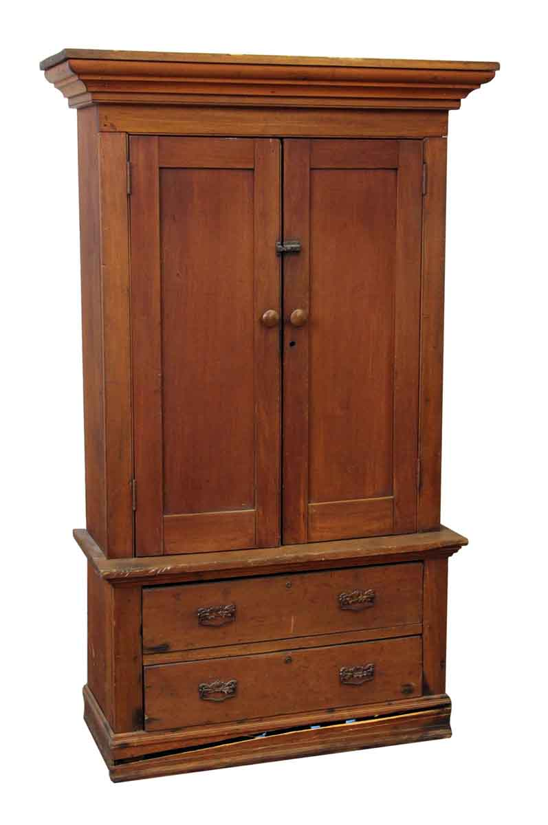 American Style Wooden Cabinet With Bottom Drawers Olde Good Things