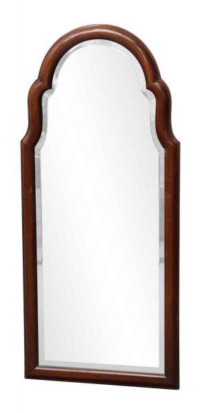 Dark Wood Framed Beveled Mirror