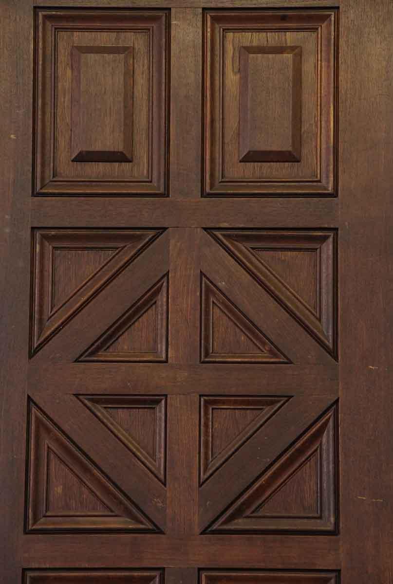 Pair Of Carved Wooden Geometric Doors Olde Good Things