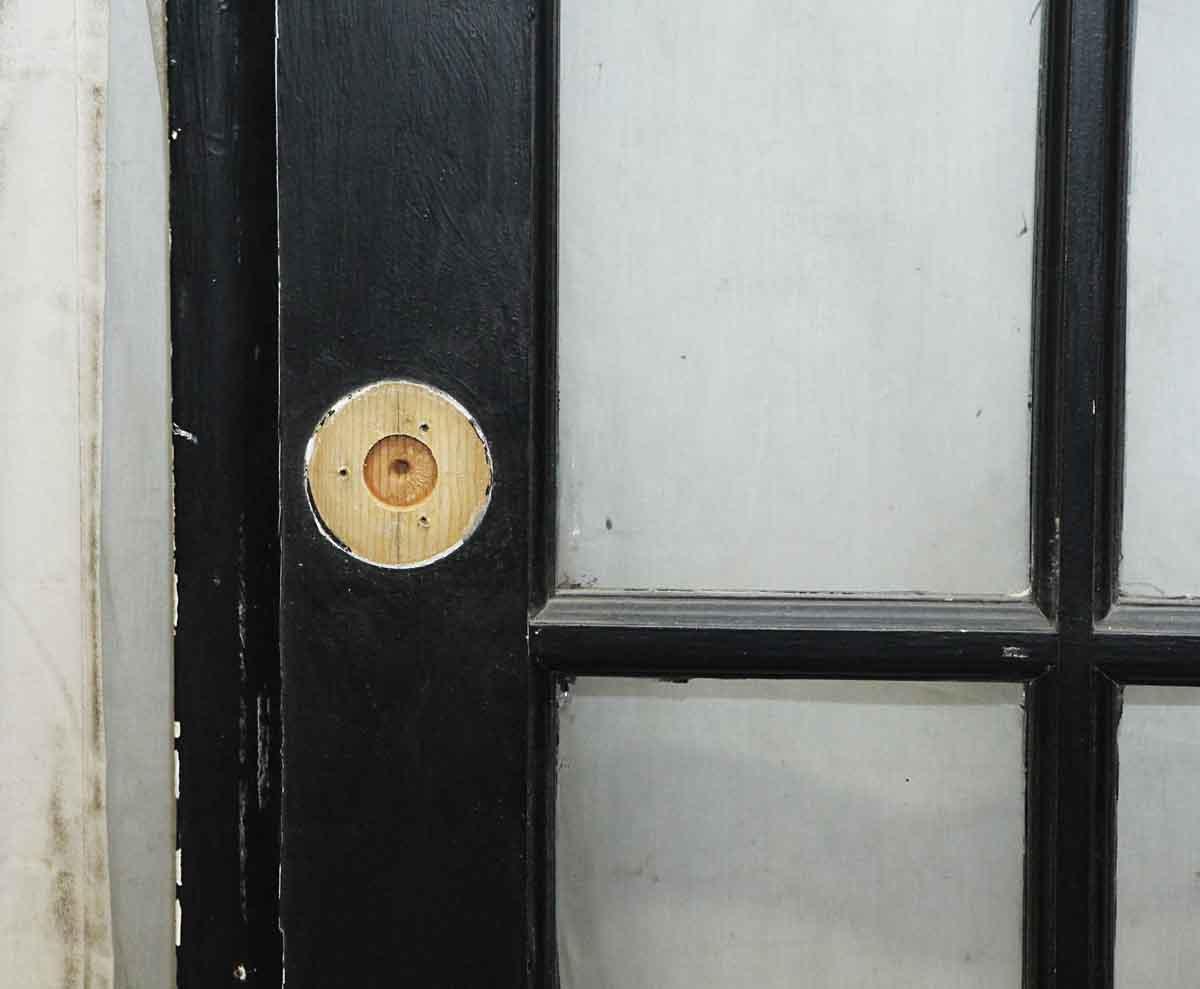 Black Wooden 15 Glass Panel Door Olde Good Things