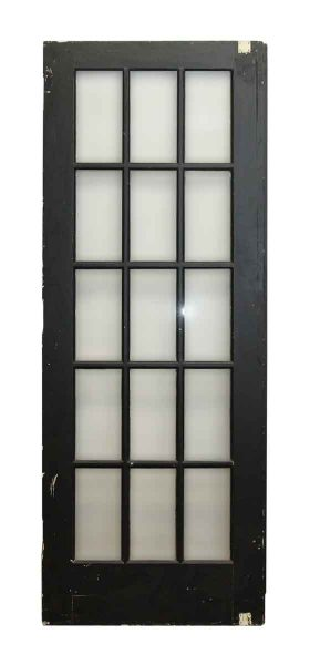 Black Wooden 15 Glass Panel Door