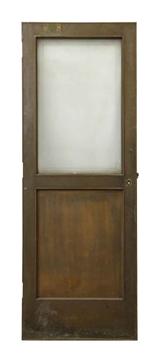 Brass Door with Glass Panel