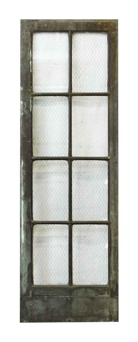 Metal Door with Eight Chicken Wire Glass Panels