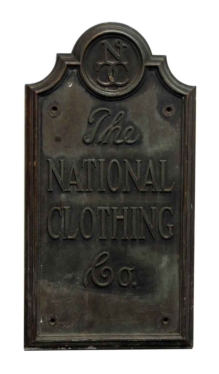 the national clothing co iron plaque olde good things. Black Bedroom Furniture Sets. Home Design Ideas