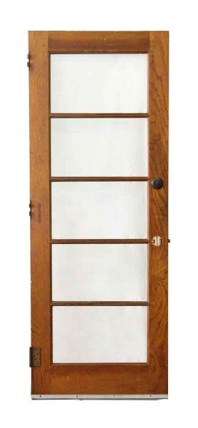 Wood Door with Five Horizontal Glass Panels