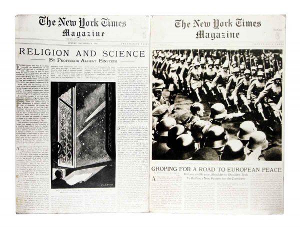 Pair of 1930s New York Times Magazine Prints