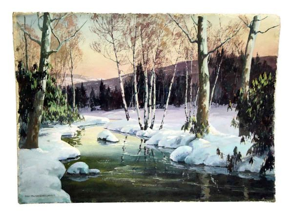 Scenic Winter Painting