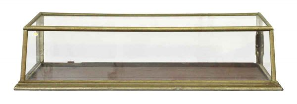 Slanted Brass Frame Table Top Showcase