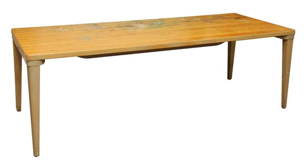 Long Wooden Remington Rand Table
