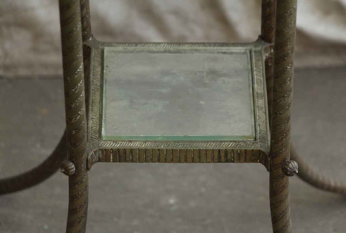 Marble Top Side Console Table With Small Glass Shelf