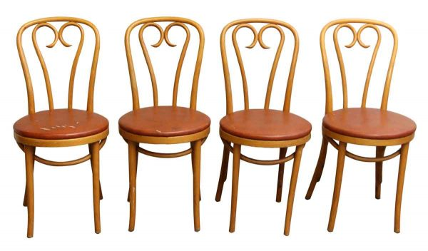 Set of Four Vintage Cafe Chairs