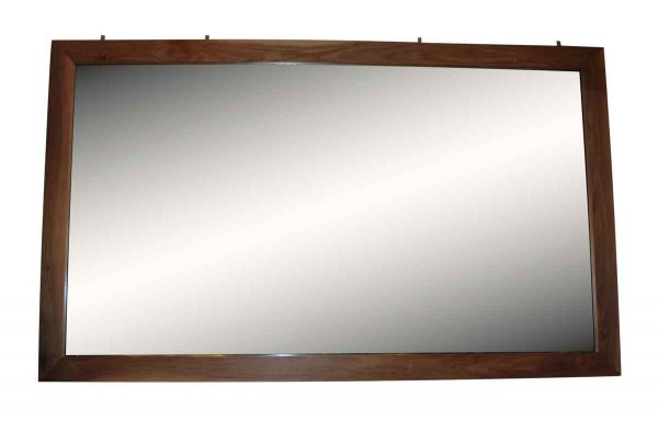Black Walnut Frame Mirror with Lightly Distressed Glass