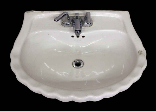 Scalloped Edge Sink with Original Hardware