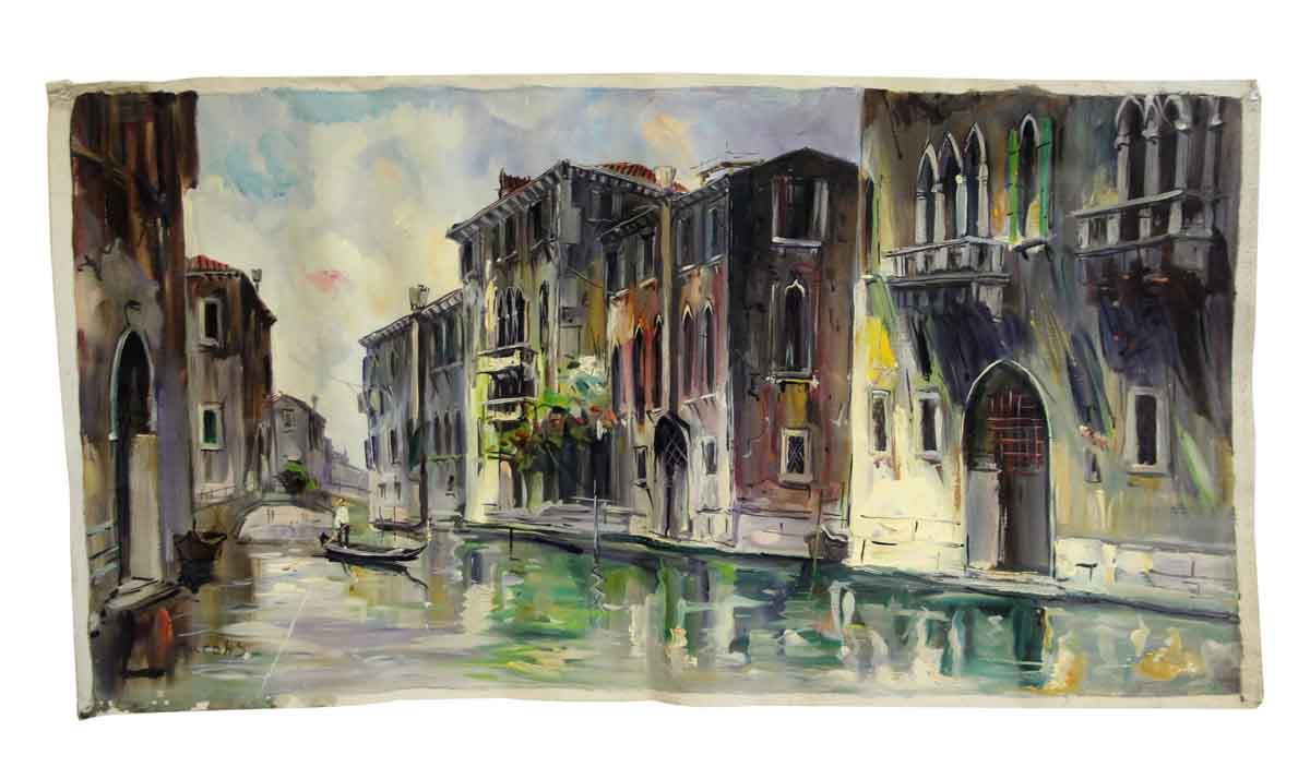 Venice Canal Canvas Oil Painting Olde Good Things