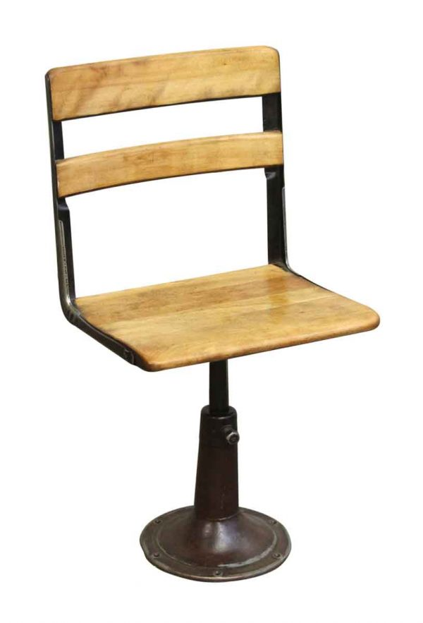 Heywood Wakefield Stool with Iron Base