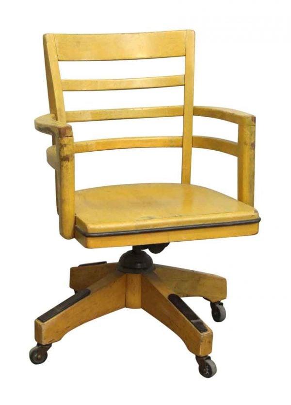 Wood Swivel Chair with Wheels