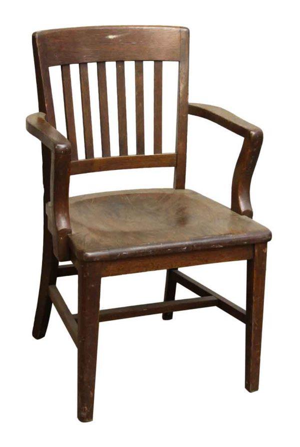 Dark Wood Banker Chair
