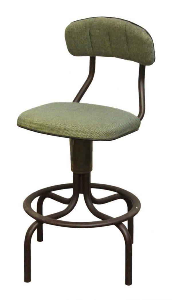 Green Upholstered Stool