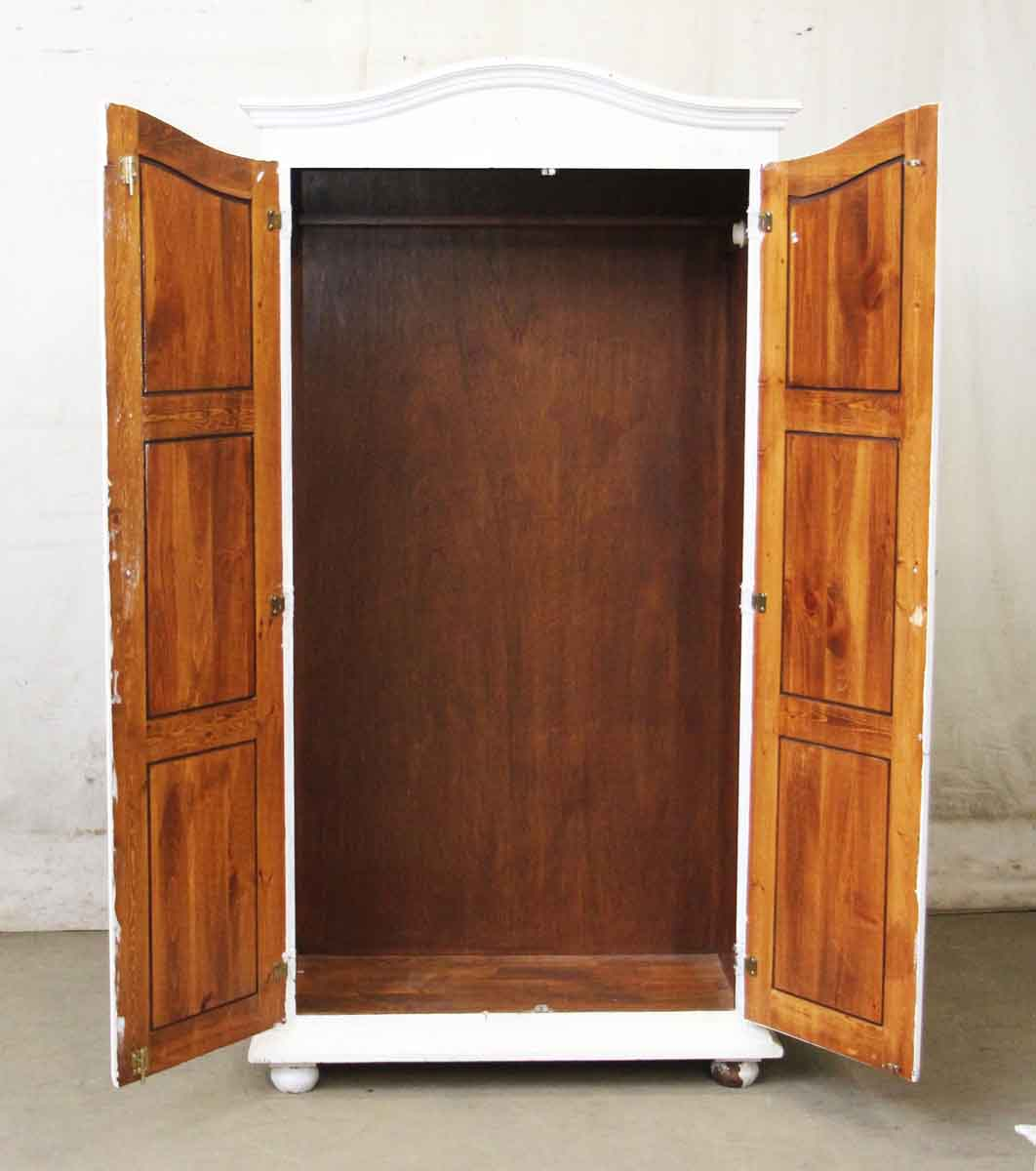 White wooden wardrobe olde good things