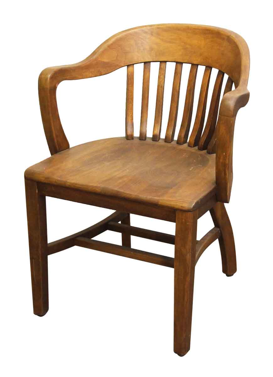 Single Wooden Bankers Chair