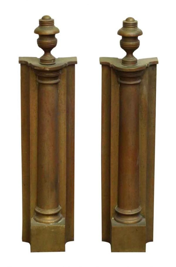 Pair of Brass Andiron Front Parts