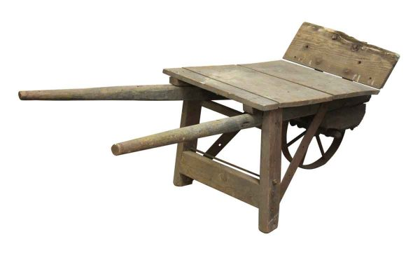Olde Wooden Wheel Barrow