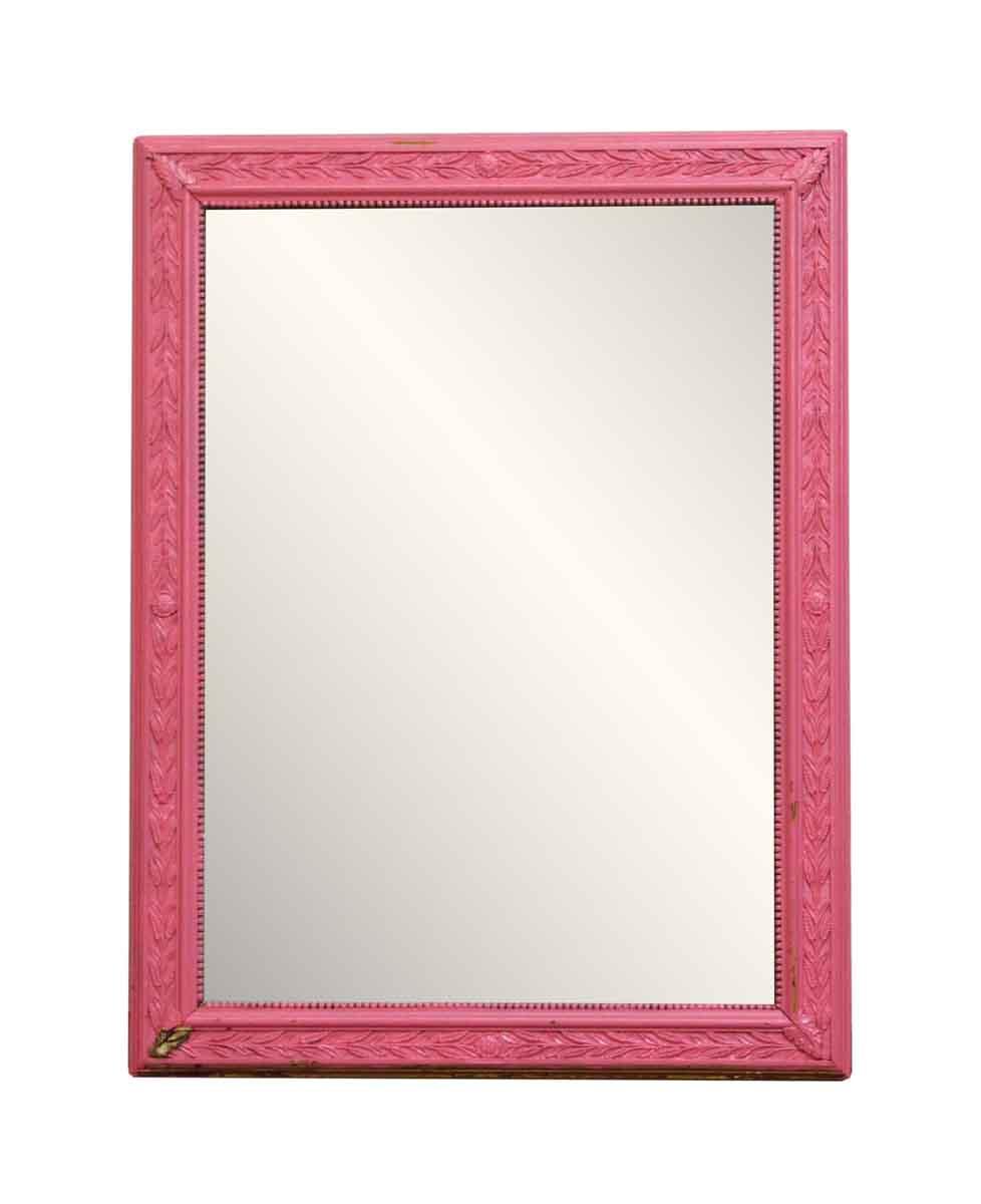 Pink Wood Frame Mirror Olde Good Things