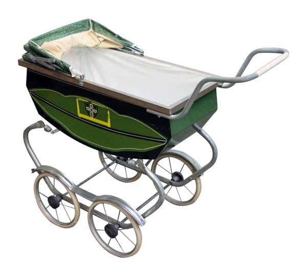 Green Vintage Baby Carriage