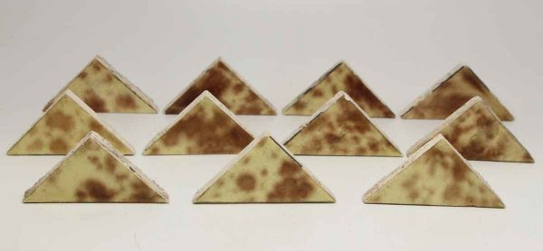 Set of Eleven Multi Color Triangle Tiles