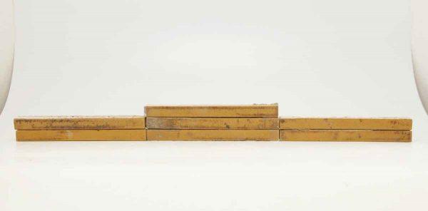 Set of Seven Long Thin Tan Tiles
