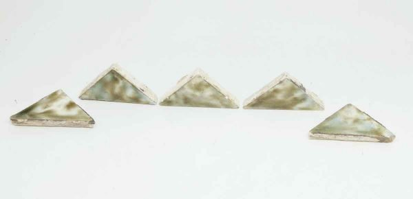 Set of Five Small Green Triangle Tiles