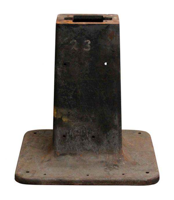 Black Iron Machine Table Base