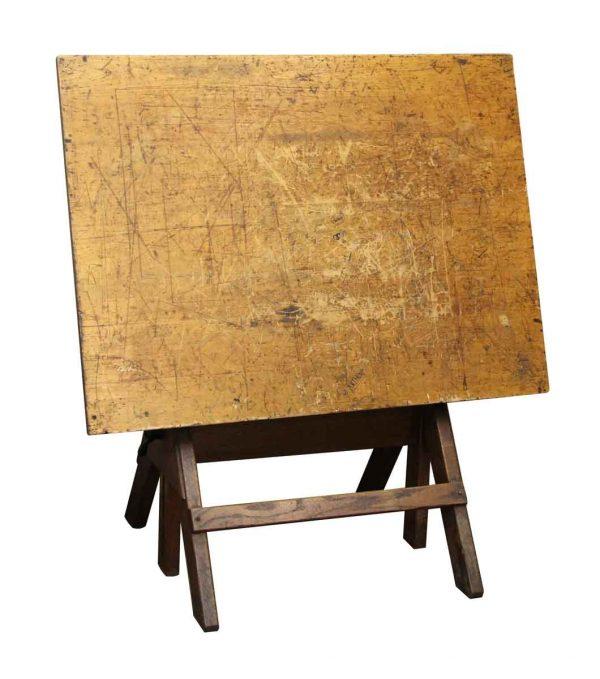 Vintage Wood Drafting Table