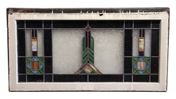 Horizontal Shaped Stained Glass Window