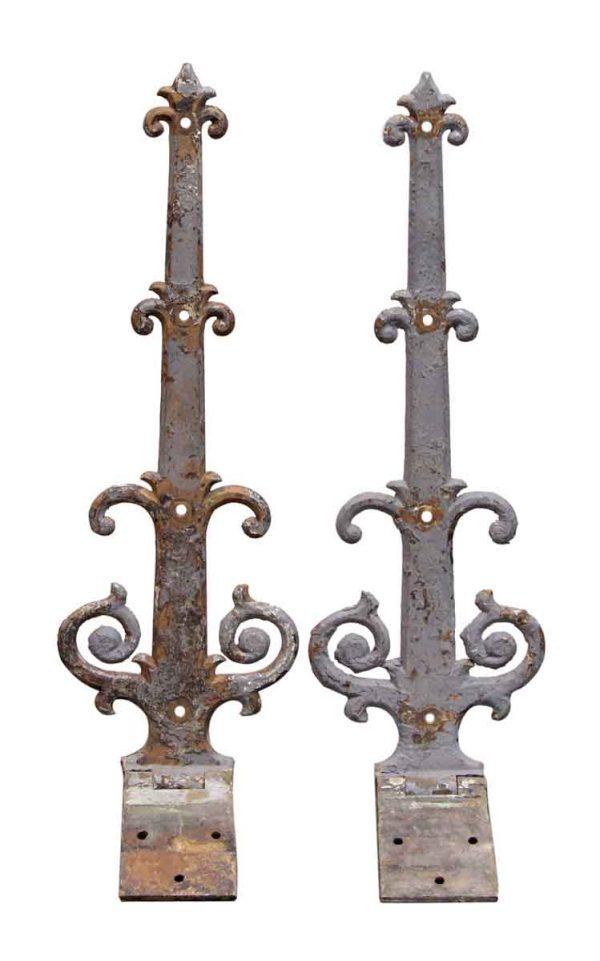 Pair of Iron Decorative Strap Hinges