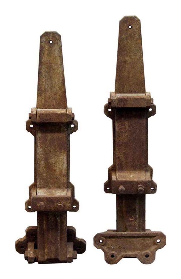 Pair of Large Steel Hinges