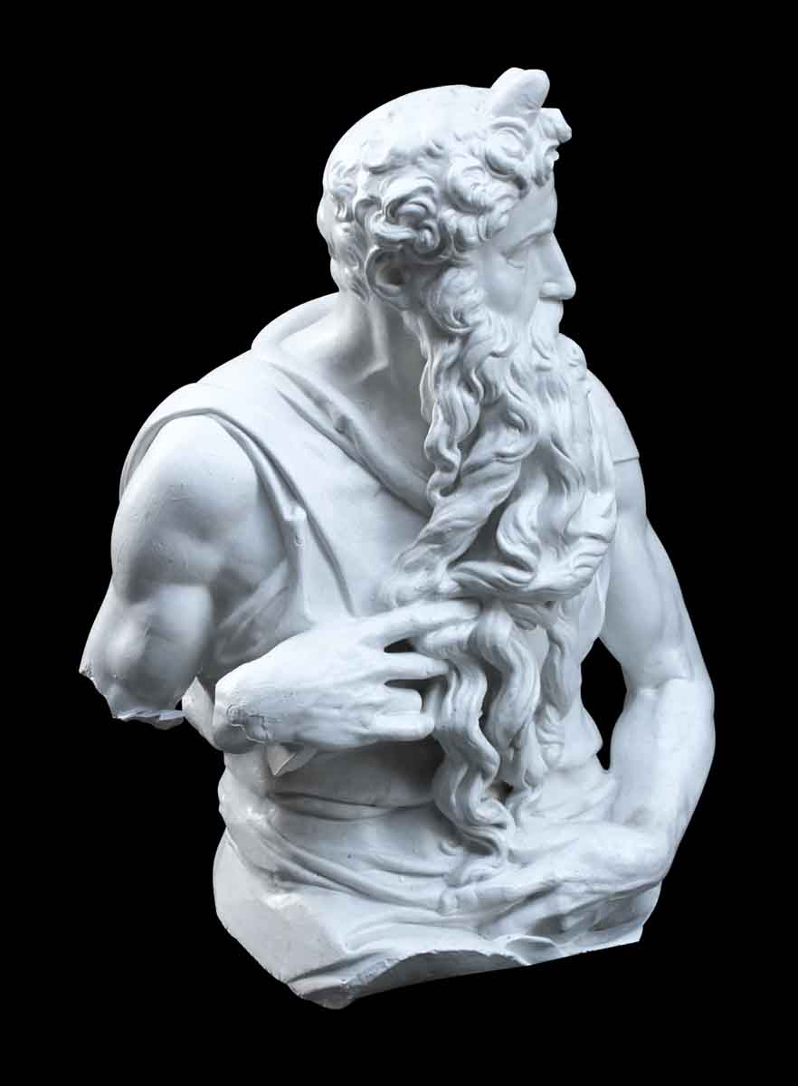 White Plaster Copy Of Michelangelo S Sculpture Of Moses