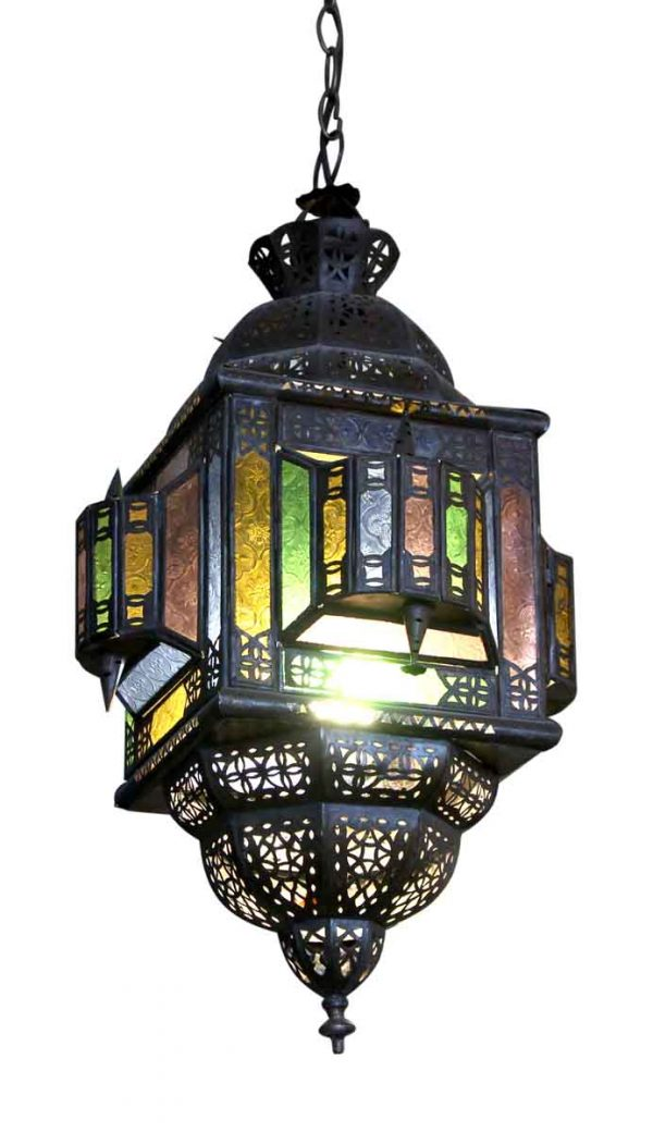Eastern Stained Glass Pendant Lantern